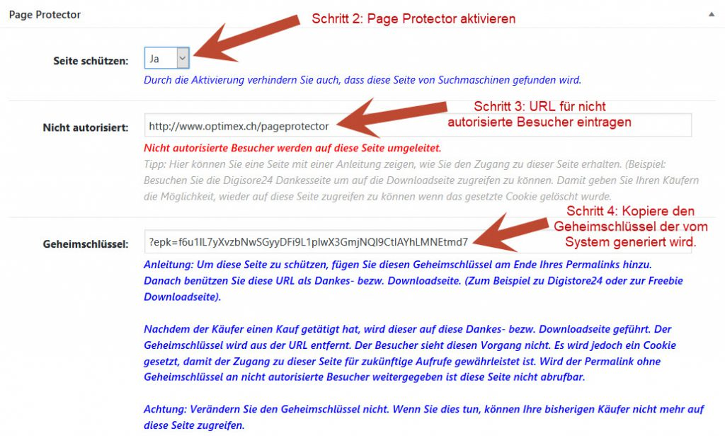 Page Protector für WordPress